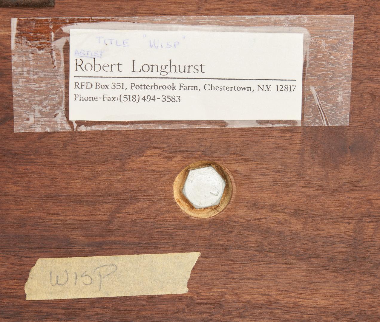 Lot 561: Robert Longhurst Abstract Wood Sculpture
