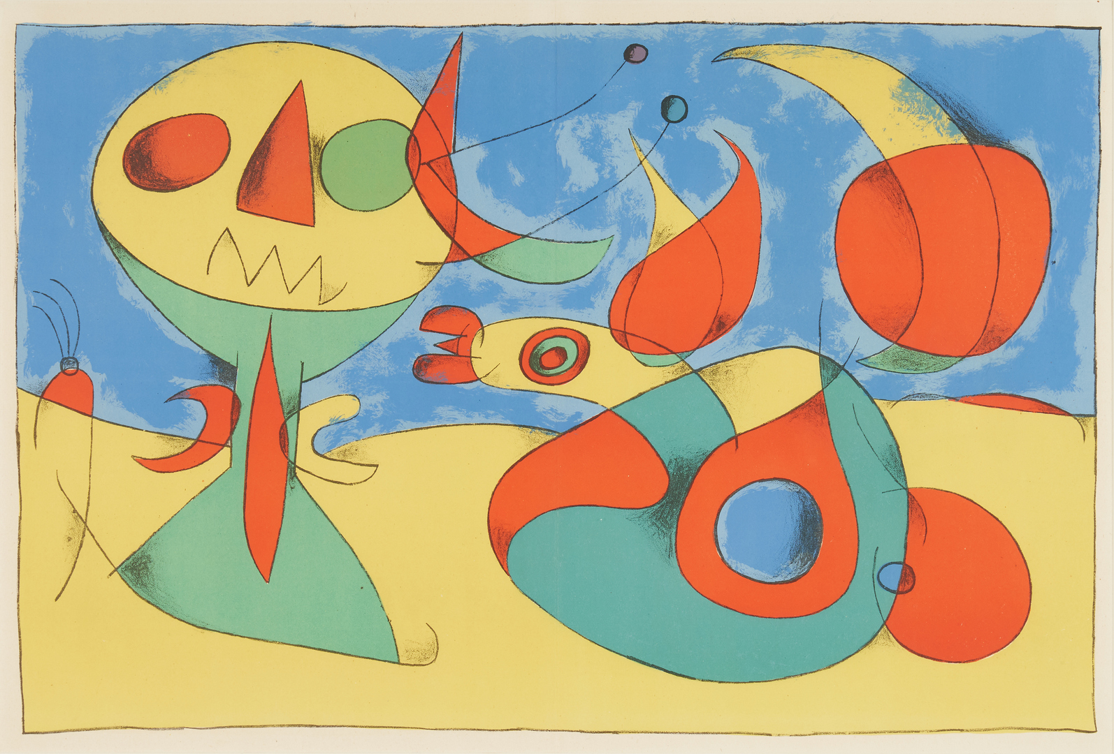 Lot 564: Joan Miro Lithograph, Zephir Vogel
