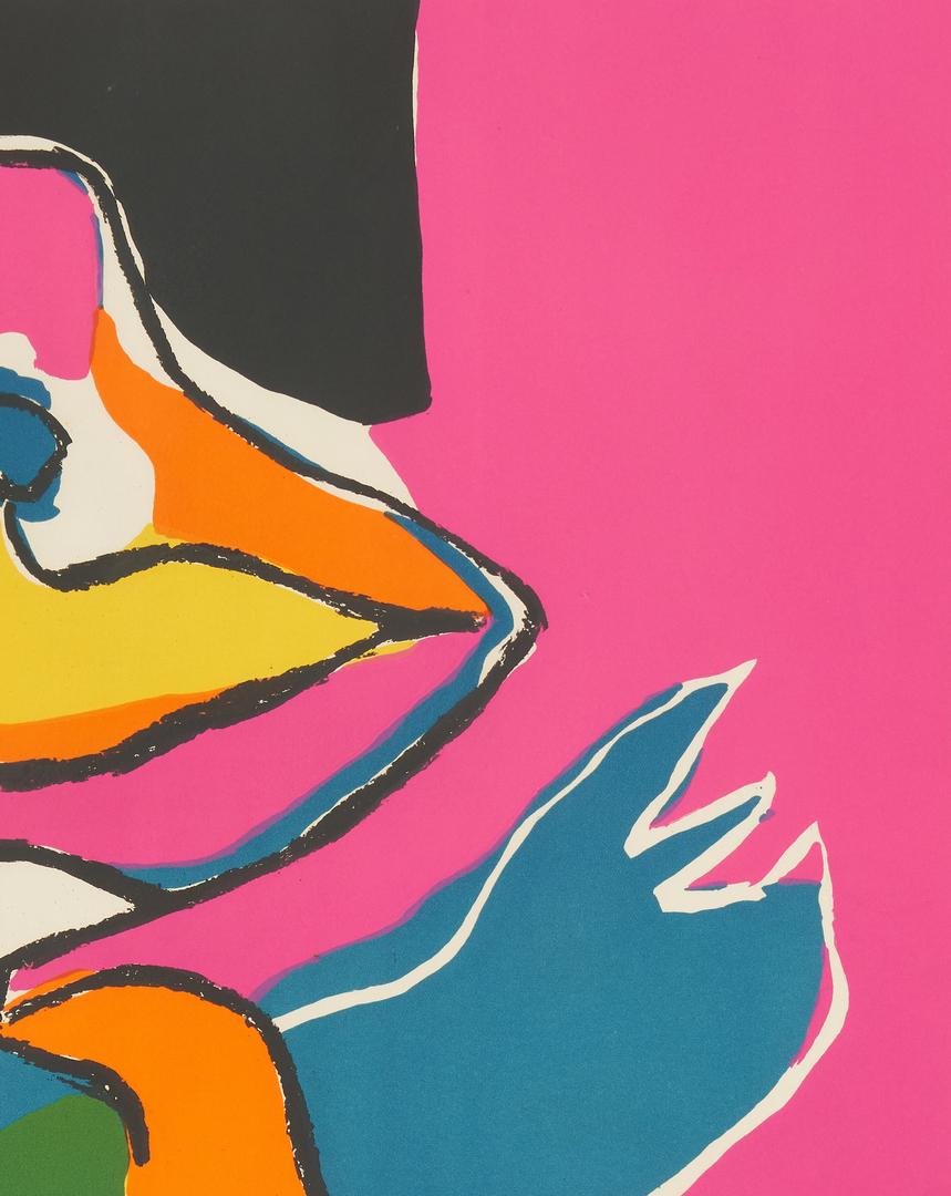 Lot 565: 2 Karel Appel Abstract Color Lithograph, incl. T.V. Blues