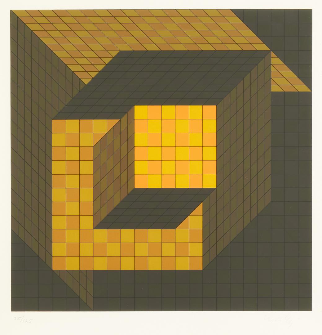 Lot 566: 2 Victor Vasarely Op Art Serigraphs