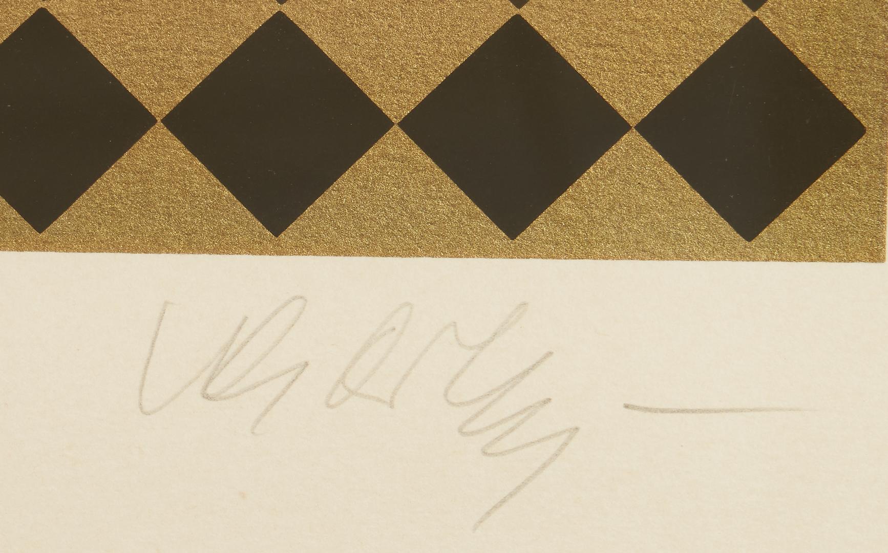 Lot 567: Victor Vasarely Modern Op art Screenprint, Yak