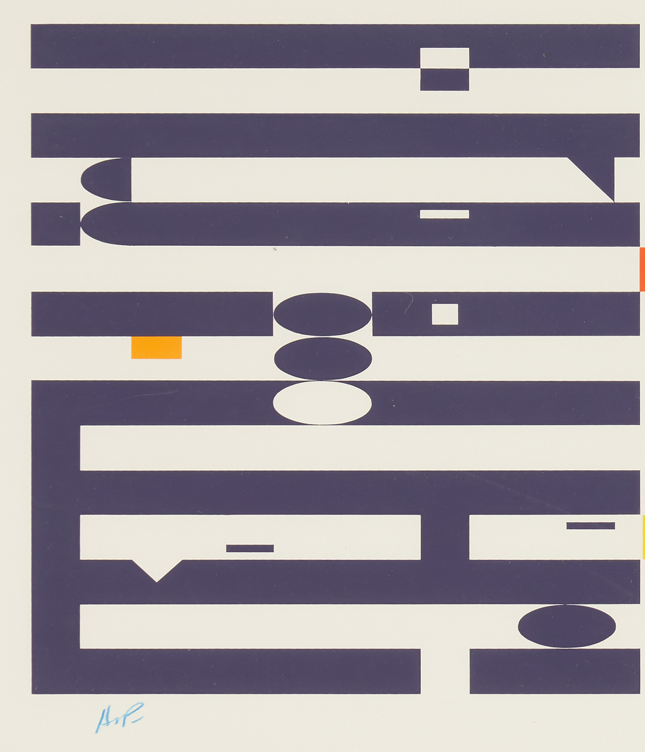 Lot 568: Yaacov Agam Kinetic Art Serigraph, Three Movement II