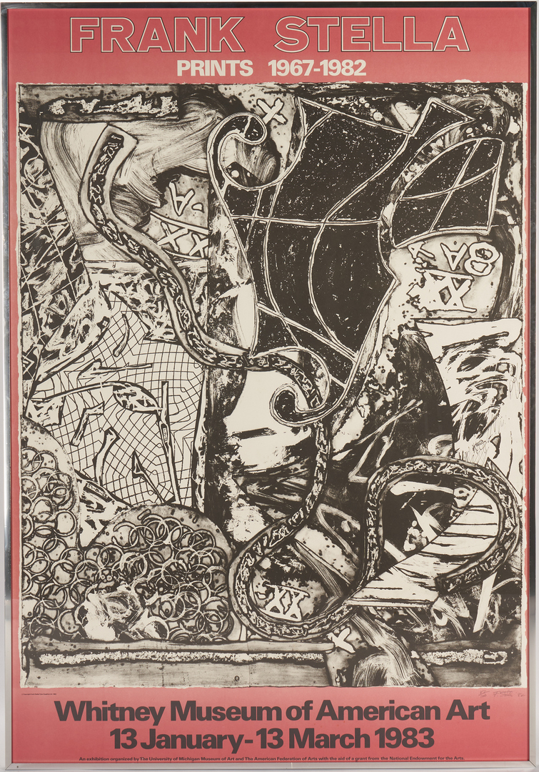 Lot 569: Signed Frank Stella Poster, 1983 Whitney Museum Exhibition