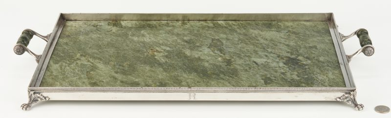 Lot 56: Lebkuecher Sterling & Marble Tray