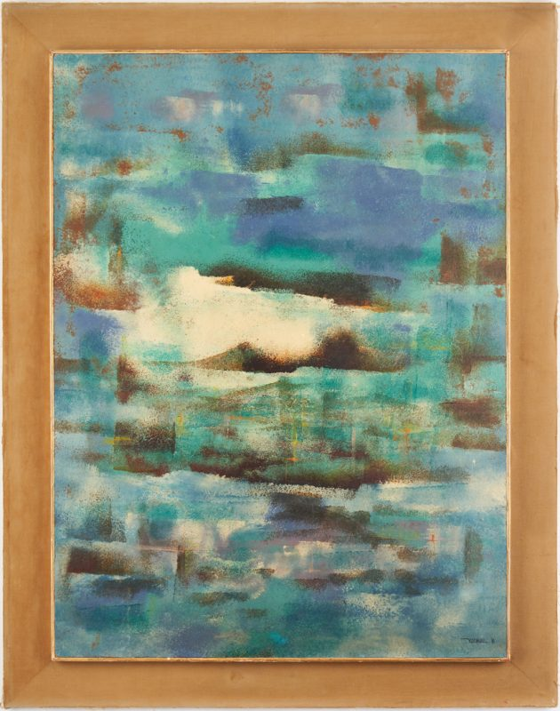 Lot 570: Leonardo Nierman O/B, Abstract Expressionist Painting