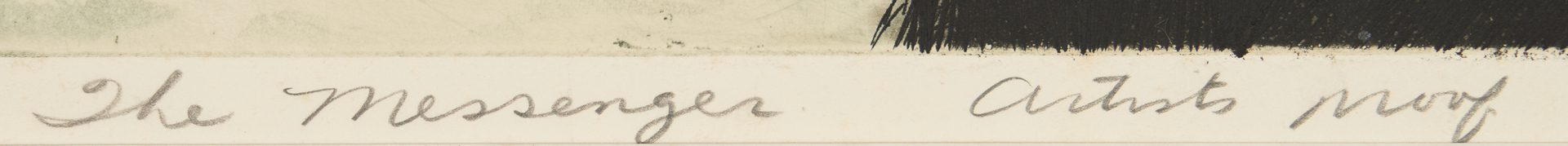 Lot 572: David Blackwood Signed Etching, The Messenger