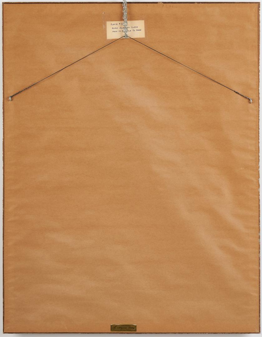 Lot 575: Georges Rouault Etching, Homo Homini Lupus
