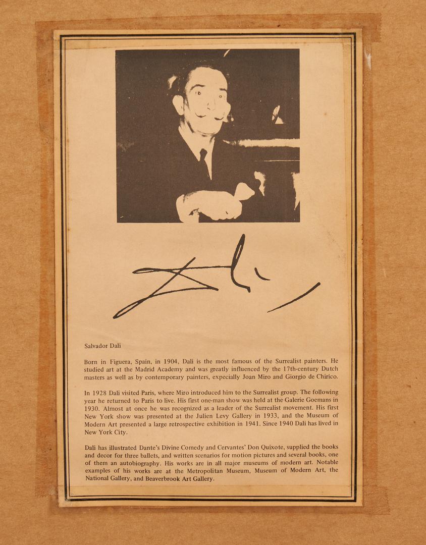 Lot 576: Salvador Dali Abricot Chevalier Lithograph
