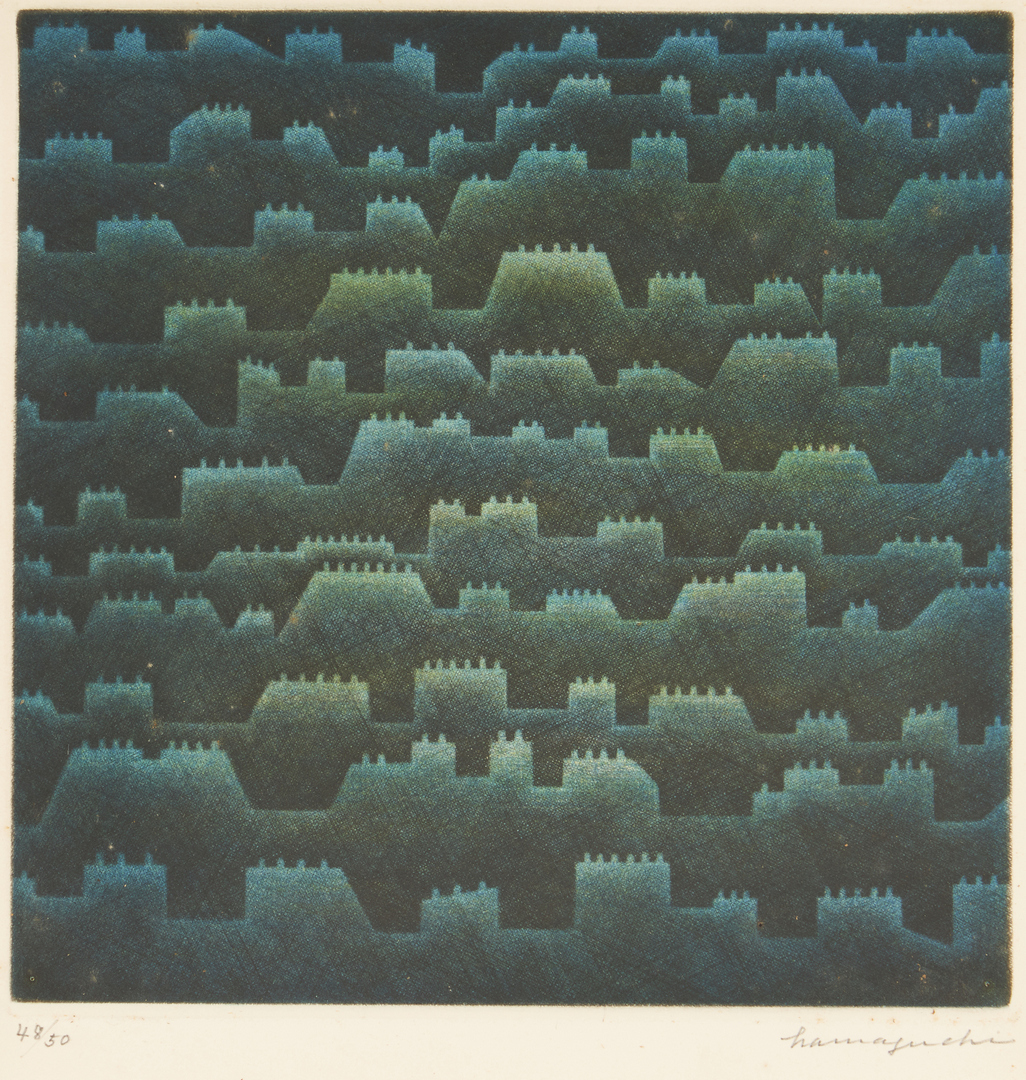 Lot 577: 2 Works on Paper, incl. Yozo Hamaguchi