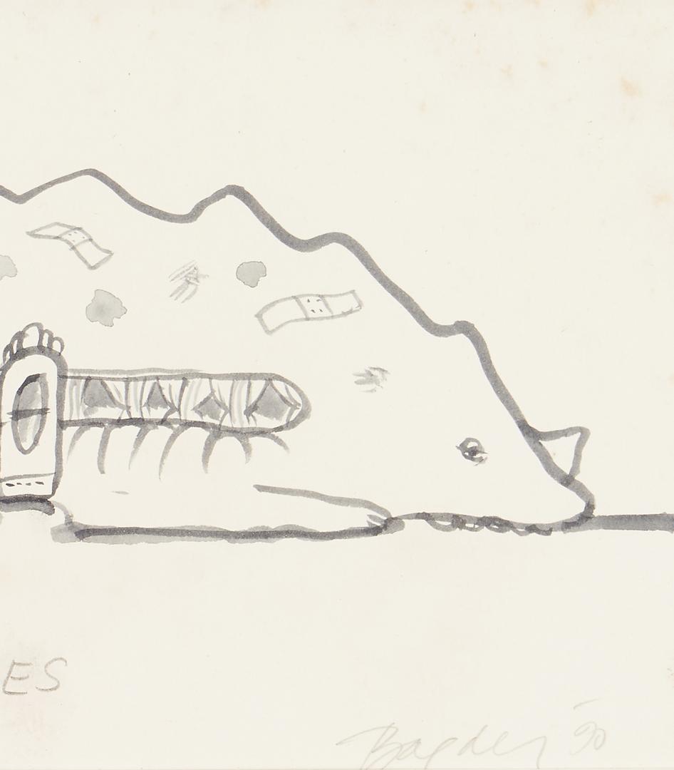"Lot 580: John Baeder ""Dinersores"" Drawing"