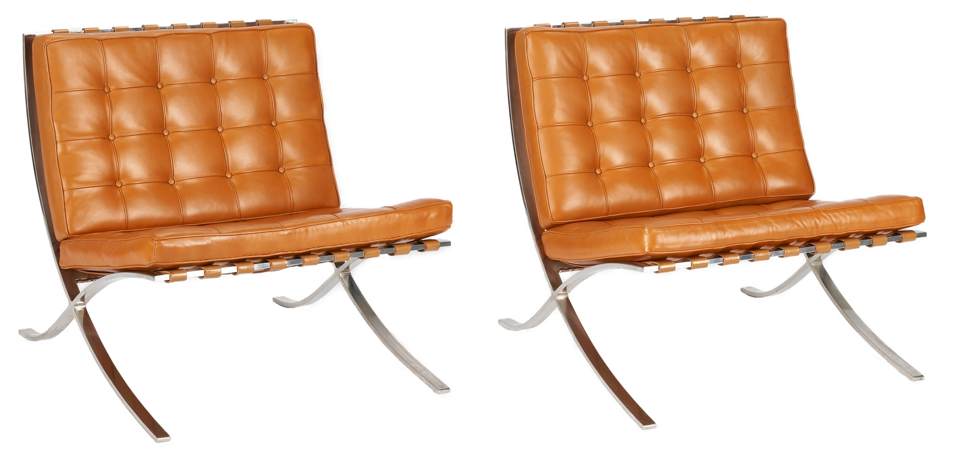 Lot 586: Pair of Barcelona Knoll Chairs