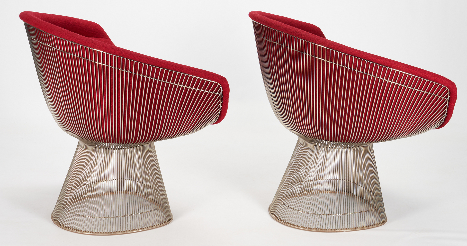 Lot 590: 4 Warren Platner for Knoll Lounge Chairs