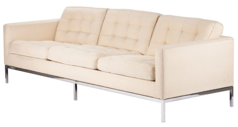 Lot 594: Mid-Century Knoll Parallel Bar System Sofa