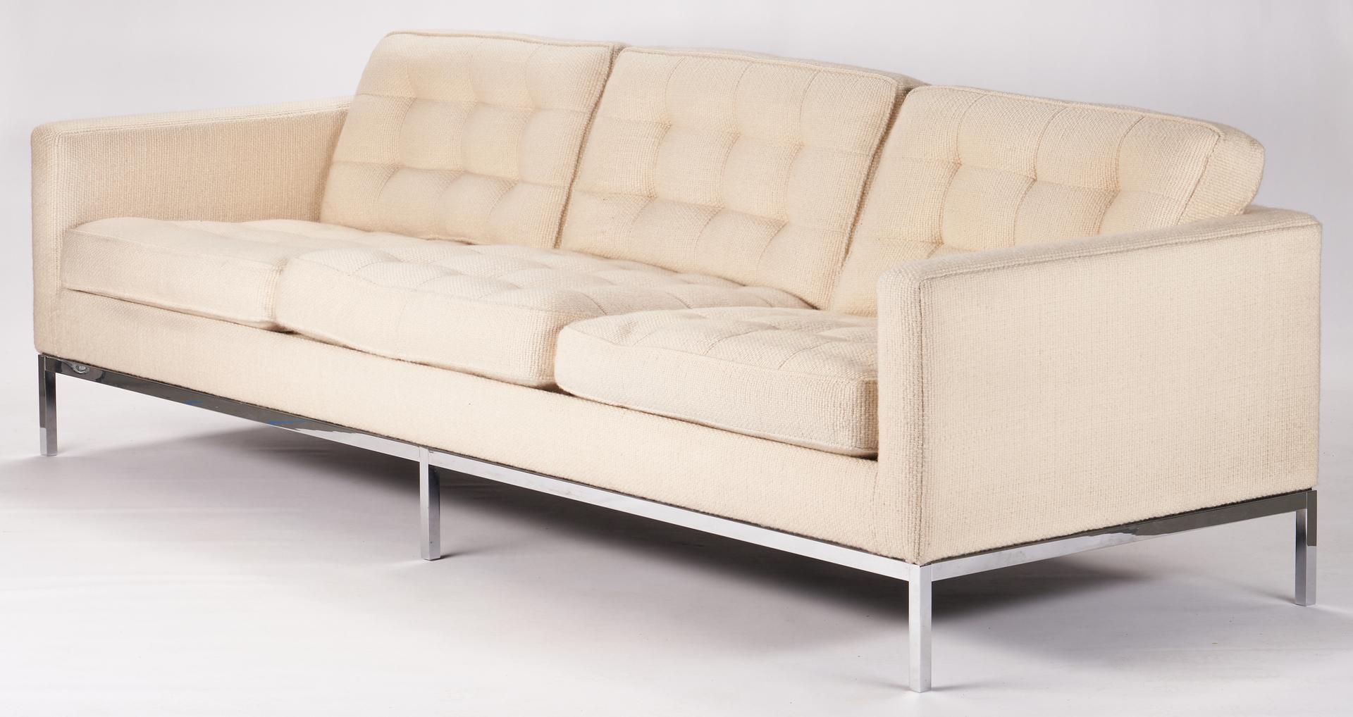 Lot 594: Mid-Century Knoll Parallel Bar System Sofa