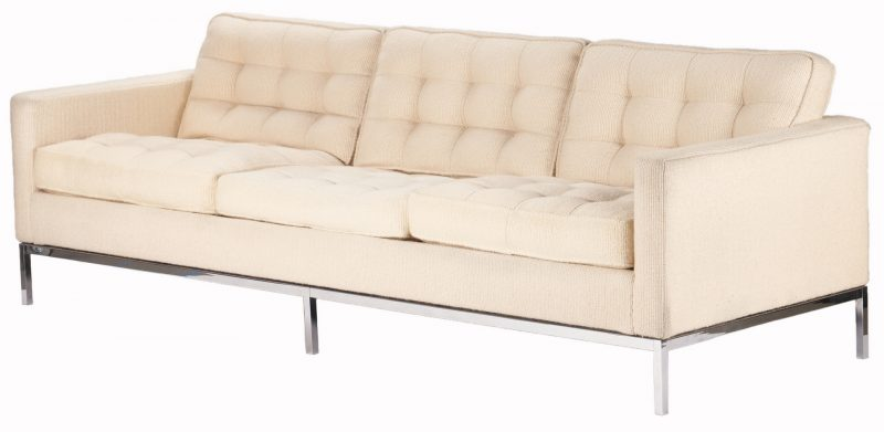 Lot 595: Mid-Century Knoll Parallel Bar System Sofa