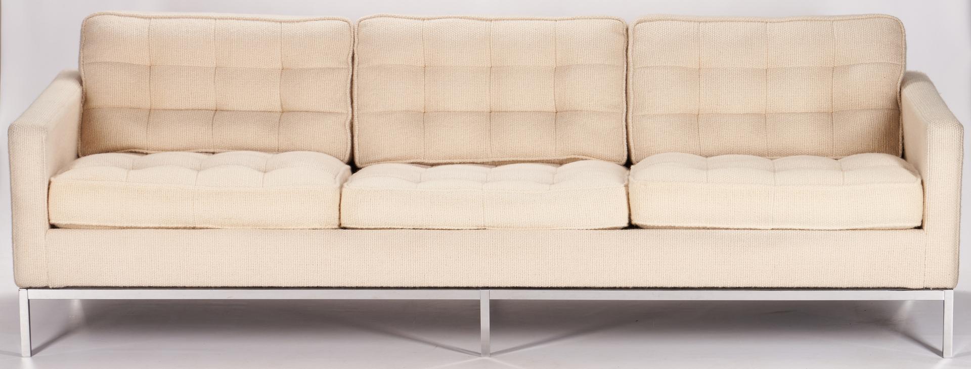 Lot 595: Mid-Century Knoll Parallel Bar System Sofa