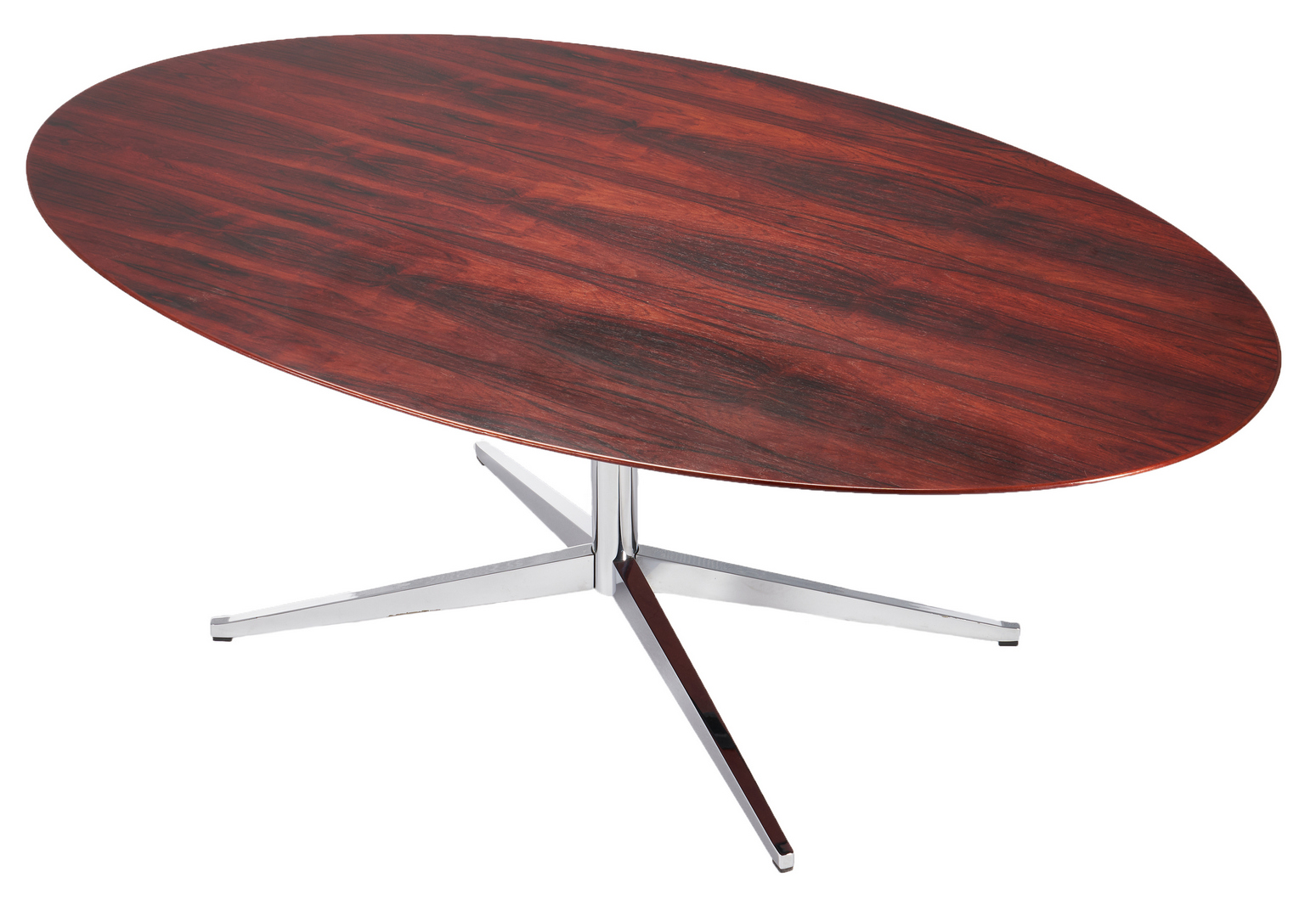 Lot 597: Mid-Century Florence Knoll Oval Table Desk