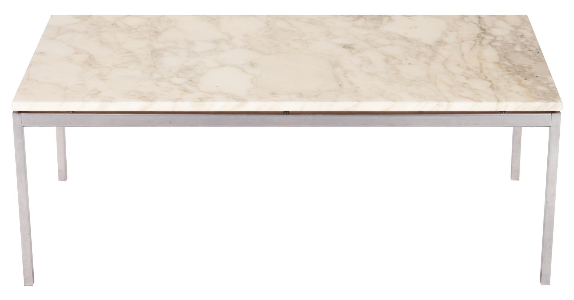 Lot 598: Mid-Century Florence Knoll Rectangular Coffee Table