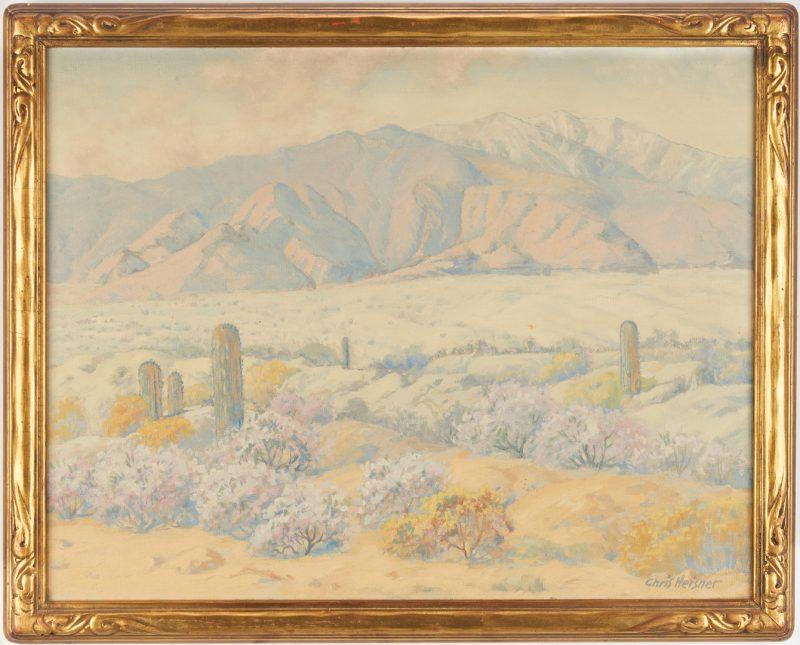 Lot 601: Chris Heisner Oil on Canvas Desert Landscape