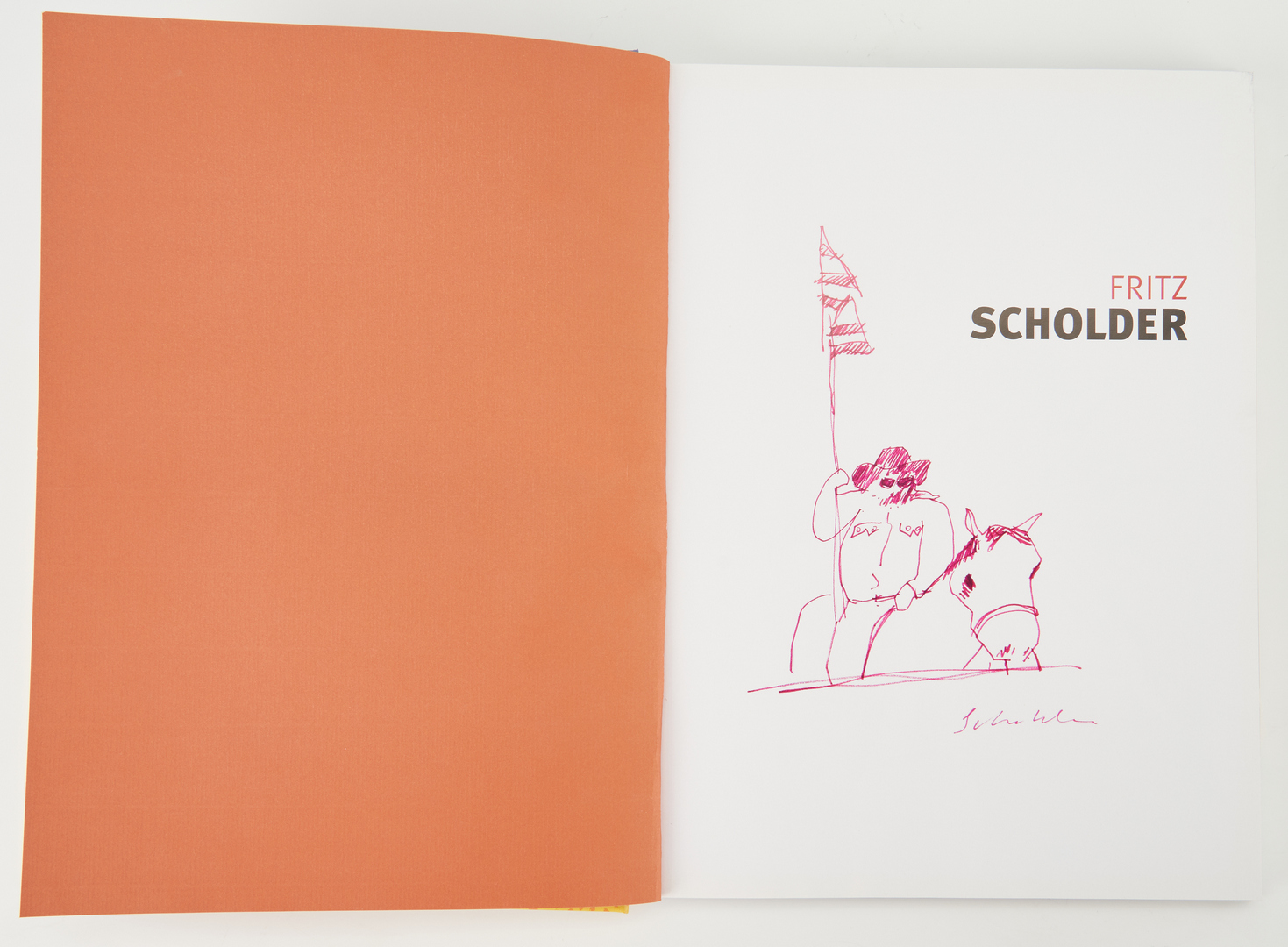 Lot 602: Fritz Scholder Serigraph and Book, 2 items