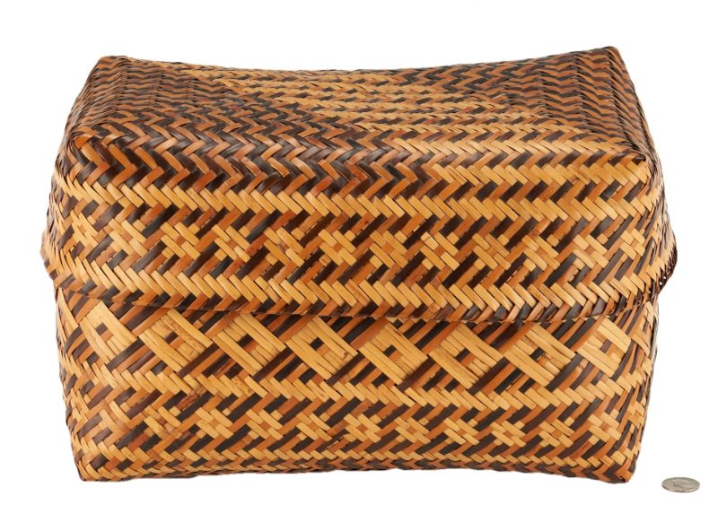 Lot 603: Eva Wolfe Native American Cherokee Basket