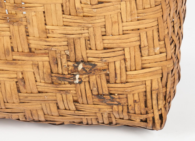 Lot 604: Large Native American Cherokee Rivercane Basket