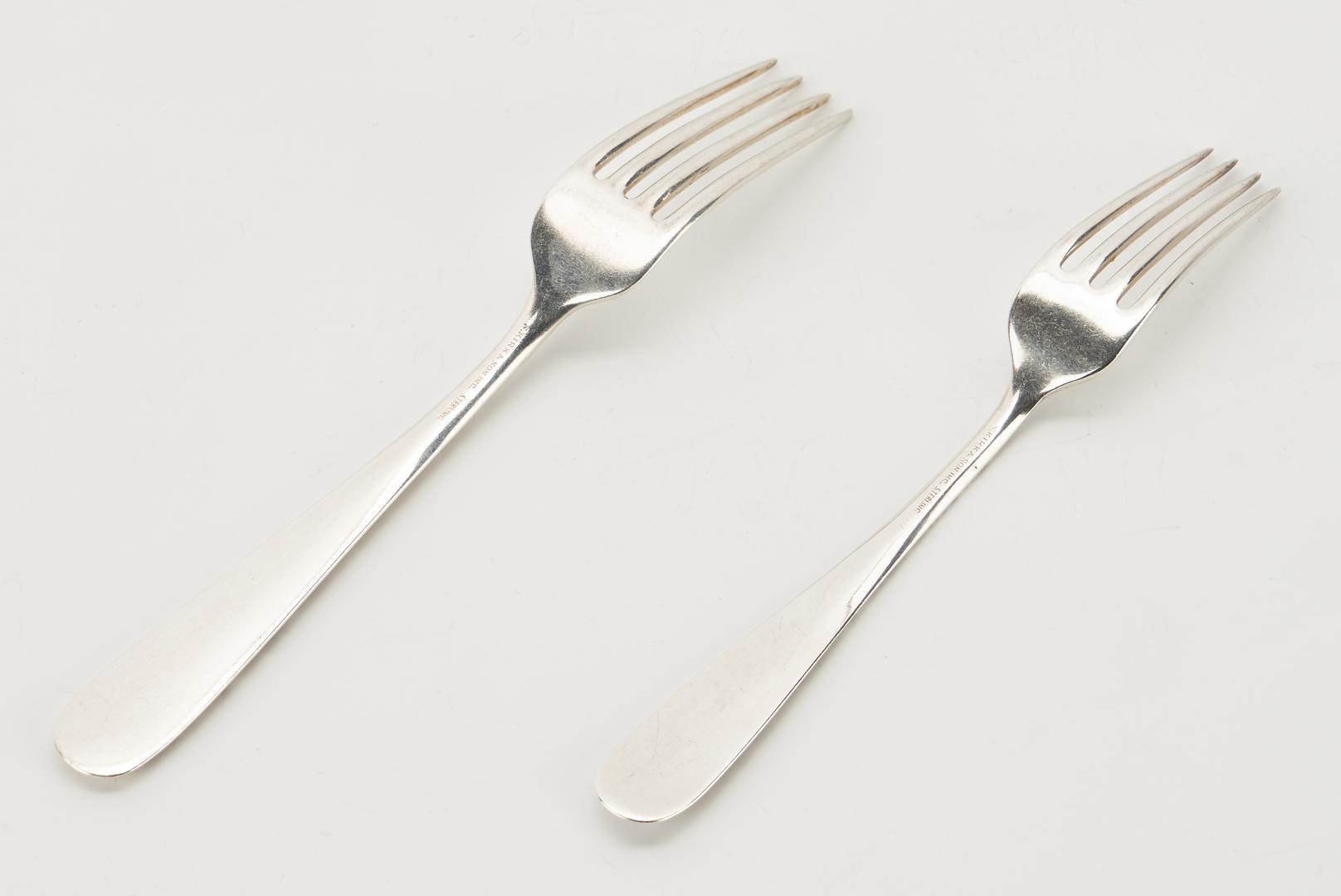 Lot 60: S. Kirk & Son Sterling Silver Repousse Flatware, 157 Pcs.