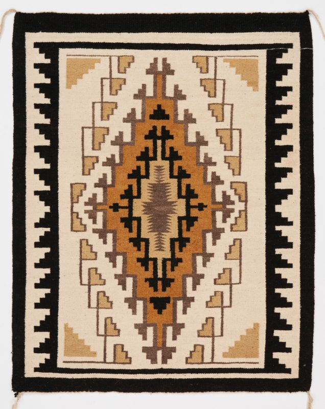 Lot 611: Navajo Rug, Two Gray Hills Pattern