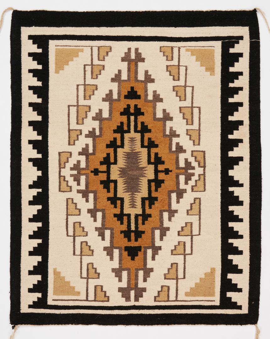 Lot 611: Navajo Rug, Two Gray Hills Pattern