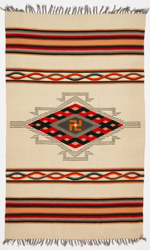 Lot 612: Early Mexican or Southwestern Blanket, Whirling Log