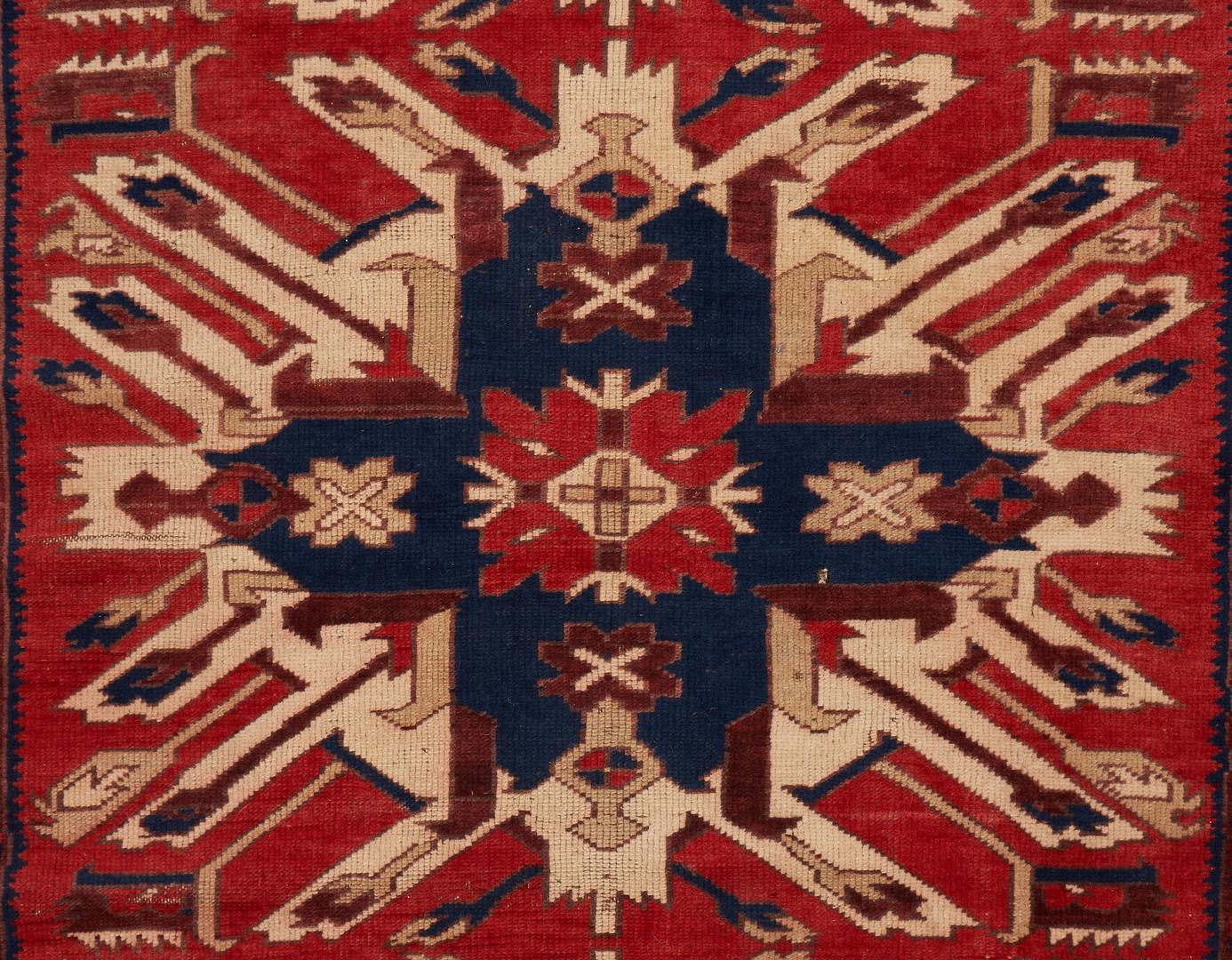 Lot 615: Turkish Rug, Kazak Eagle Design
