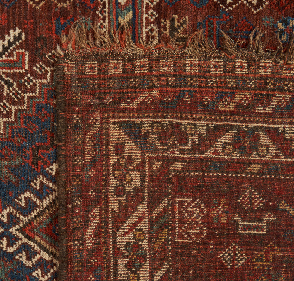 Lot 617: 2 Persian Rugs, Shiraz and Hamadan Prayer