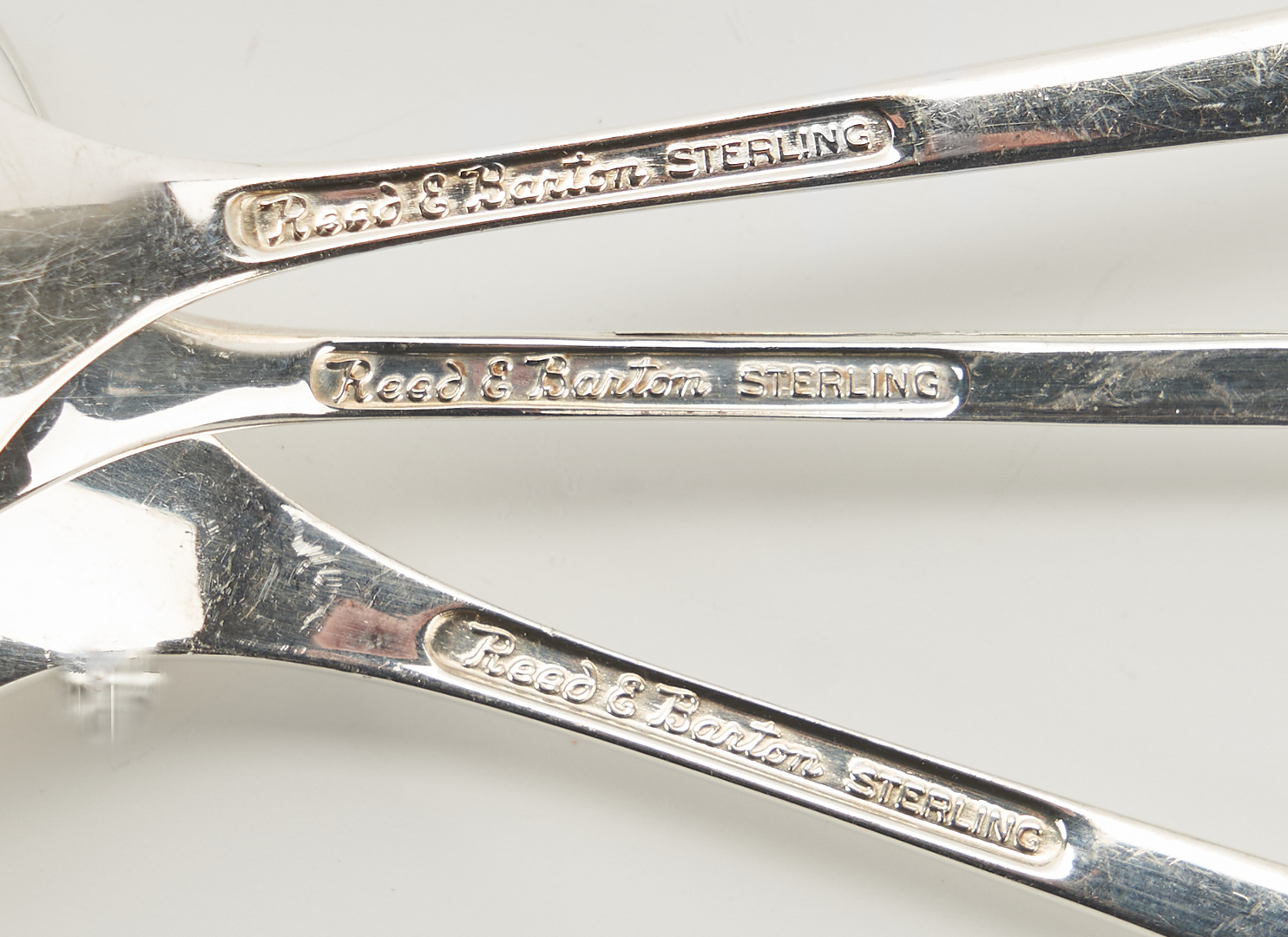 """Lot 61: Reed & Barton """"Dimension"""" Service for 12 Sterling Flatware"""