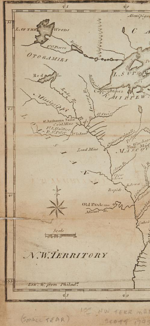 Lot 620: 12 U.S. Gazetteer Maps, 1795, 13 items