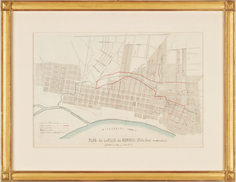 Lot 621: 19th Century Map of Memphis