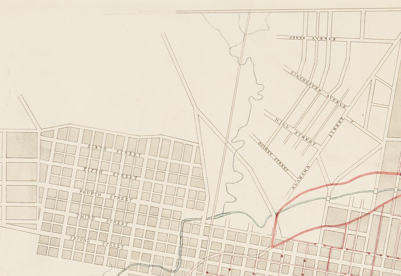 Lot 621: 19th Century Map of Memphis