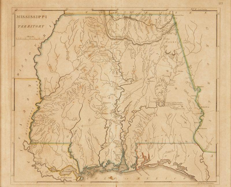 Lot 623: 1814 Map of Mississippi Territory inc. Alabama