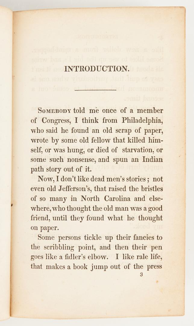 Lot 629: 2 Davy Crockett Books, incl. 1st Ed. Account 1835