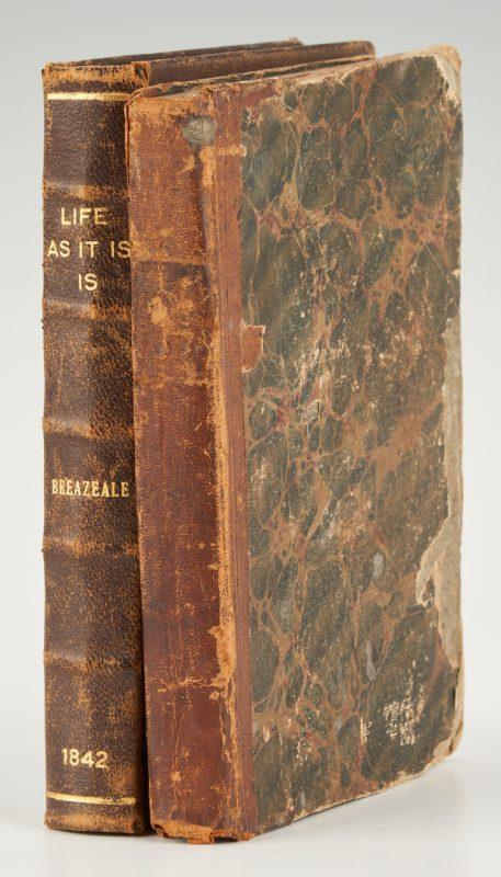 Lot 630: Two (2) J.W.M. Breazeale, Life As It Is, 1842