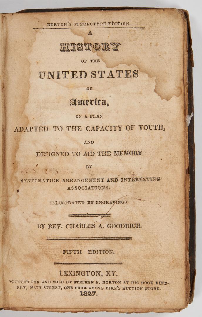 Lot 631: 17 Amer. Pubs., incl. Early TN/Civil War Imprints