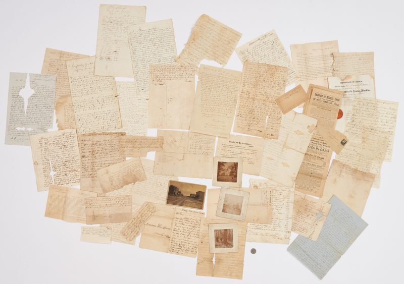 Lot 636: Early Washington County, East TN Archive, 45 items