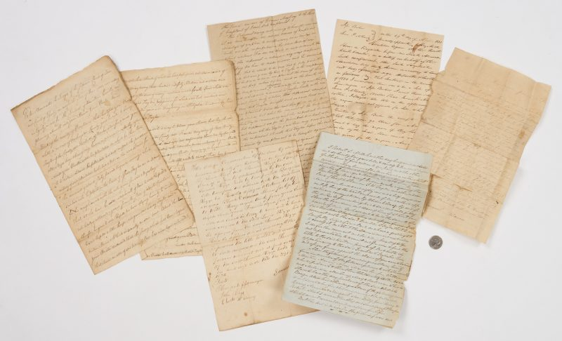 Lot 640: 6 Slave Documents, incl. 1853 Trust for 25 Slaves