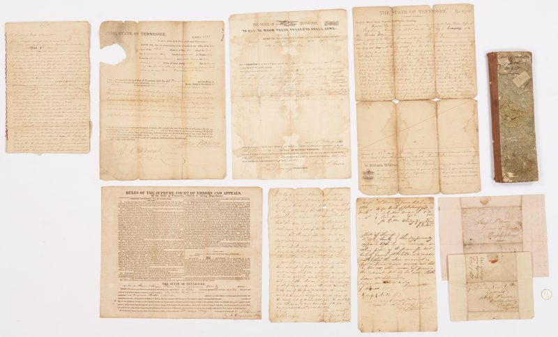 Lot 642: TN Governor Signed Land Grant Archive + Broadside