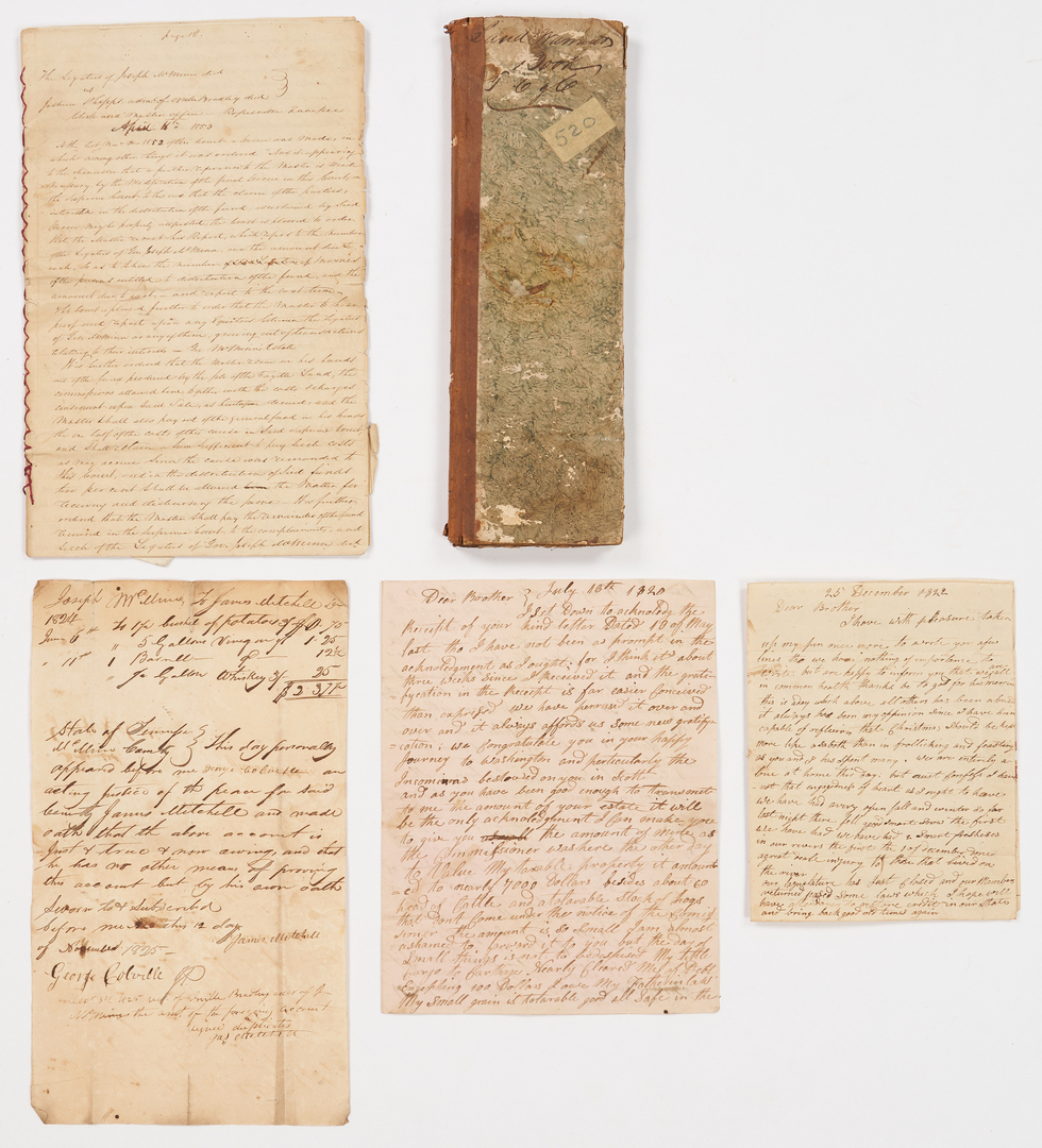Lot 642: TN Governor Signed Land Grant Archive + Broadside