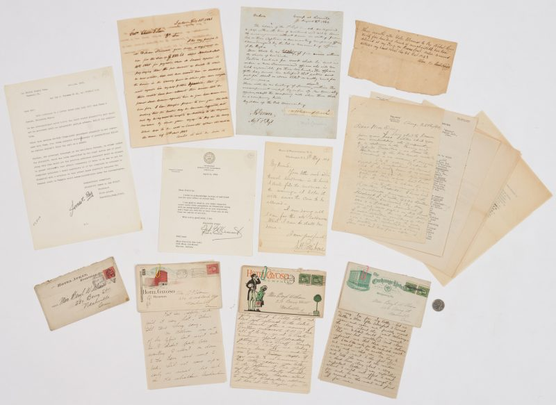 Lot 643: 13 Historical Tennessee Related Documents, W.B. Campbell, W.B. Carter