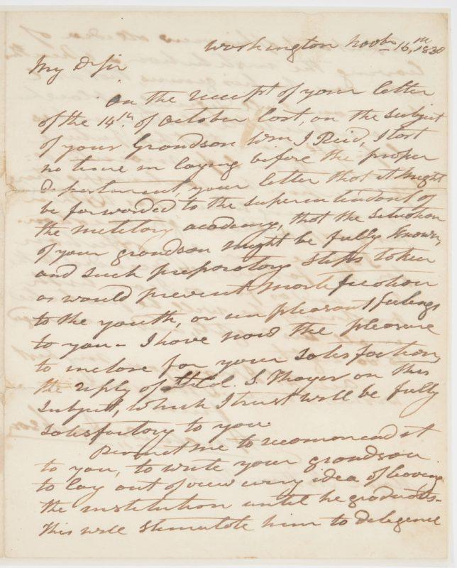 Lot 645: Andrew Jackson ALS, 1830