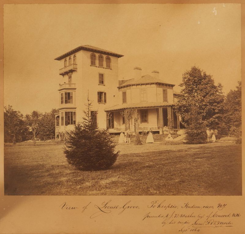 Lot 649: Signed Samuel Morse Photograph of Locust Grove