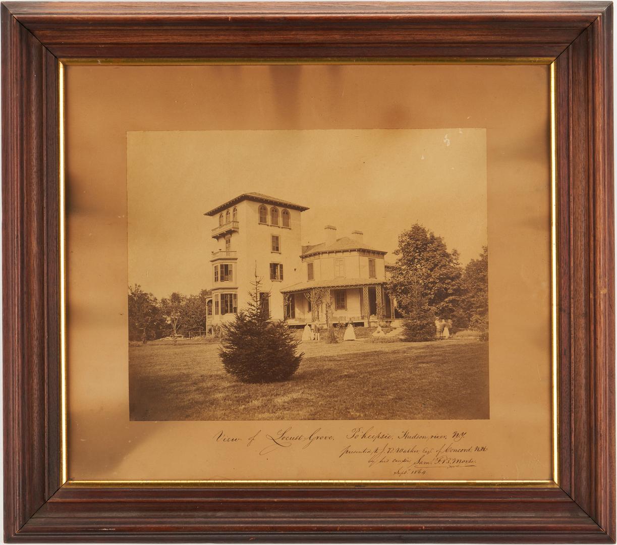 Lot 649: Signed Samuel Morse Photograph of Locust Grove