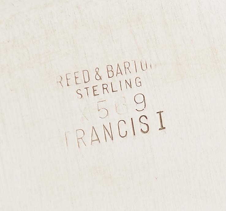 Lot 64: 4 Francis I Sterling Sandwich Plates