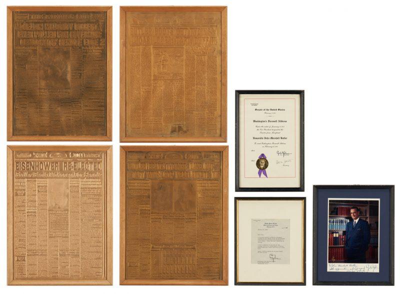 Lot 652: Senator J.M. Butler Archive, incl. LBJ Signed Items